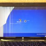 HPのパソコン画面割れ、表示不良の液晶交換の費用、値段