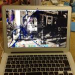 MacbookAirの亀裂や、ヒビの液晶パネル交換