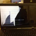 マウスコンピューター画面割れ、亀裂を格安に直します!