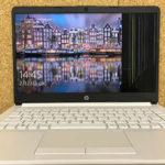 HP 14s-dk0099AUの液晶割れ 修理・買取
