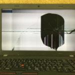 Lenovo E560の液晶交換修理 画面割れ