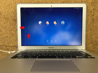 MacBook Air 画面に線