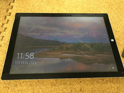 Surface Pro 3 タッチパネル割れ