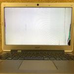 Acerの画面が真っ白になったパソコン修理