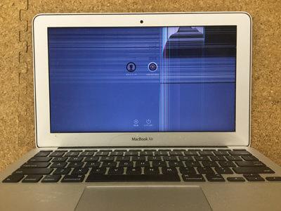 MacbookAir 液晶割れ