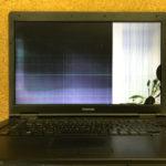 東芝 Satellite B551 画面割れ、液晶漏れのパソコン修理