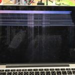 Mac 液晶修理 線が入る、画面が映らない