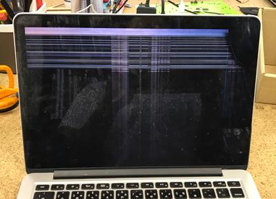 Mac 画面に線