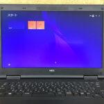 NEC PC-VK26TXZFNの画面が赤い、にじみ
