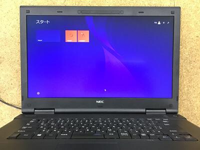 PC-VK26TXZFN 画面が赤い
