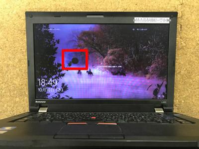 ThinkPad L420 画面割れ