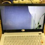 NEC LZ550/Mの修理 パソコン画面割れ