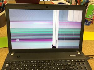 ThinkPad E540 液晶割れ