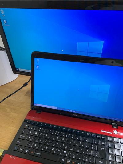 パソコンの画面ミラーリング