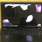 CLEVO W255EUの画面割れ パソコン修理