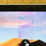 画面の角度を変えると表示がおかしくなるMacBook Proの修理