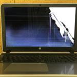 HP Pavilion 15-ab228TUの液晶画面割れ パソコン修理