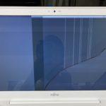 富士通 AH45/B2 FMVA45B2WGの画面割れ パソコン修理