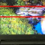 富士通 FMVA05012Pの液晶画面に線が入った パソコン修理