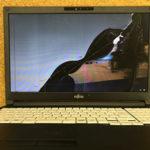 富士通 FMVA6401MPのパソコン画面割れ、亀裂