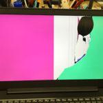 マウスを挟んで画面が割れたパソコン修理 Lenovo