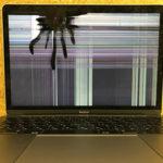 MacBook 12の画面が蜘蛛の巣状になってしまった修理