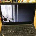 東芝 dynabook B65/H イヤホンを挟んで画面が割れた修理