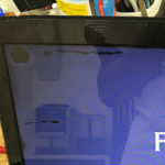富士通 FMVWMA1のパソコン修理 画面故障、黒いにじみ