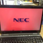 ノートパソコンの画面が赤い、うっすら表示のバックライト修理