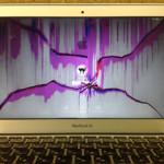 MacbookAirの当日修理 液晶交換いたしました!