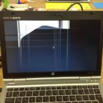 HP EliteBook2560pの液晶割れ、表示不良の修理