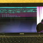ノートパソコン修理 東芝 PT6525TFBFBWの液晶交換