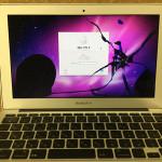 MacBook Airの液晶交換は即日修理が可能です!