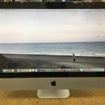 iMac ガラス割れ