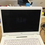 パソコンの画面が暗い NEC LL750/SGのバックライト修理