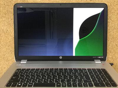 HP ENVY 17 画面割れ