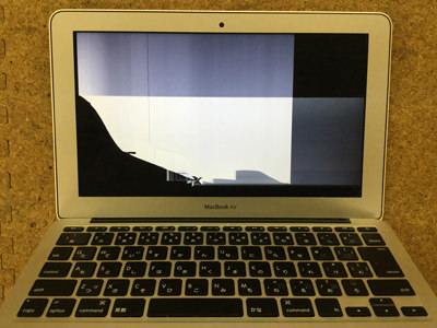 macbook air 液晶割れ