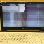 PC-LS150SSW 液晶割れ