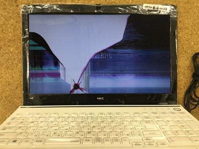 PC-LS150RSW 画面割れ