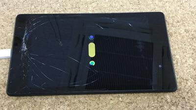 Nexus7 ガラス割れ