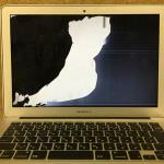 MacbookAir 画面割れ