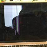 macbook ローズゴールド 液晶割れ