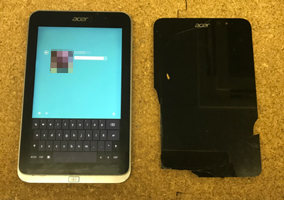 Acer ICONIA W4-820 画面交換