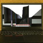 Lenovo ThinkPad E585の液晶画面割れ パソコン修理