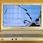 液晶修理 Panasonic Let's noteCF-SX3NETBRの画面割れ