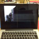 Mac 落下による故障、液晶交換